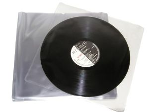 "12"" LP Clear PVC Sleeves  - Pack of 100 Sleeves"